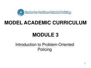 MODEL ACADEMIC CURRICULUM MODULE 3