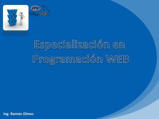 Especialización en  Programación WEB