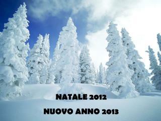 NATALE 2012 NUOVO ANNO 2013