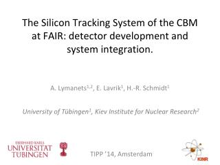The Silicon Tracking System of the CBM at FAIR: detector development and system integration.