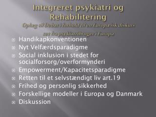 Handikapkonventionen Nyt Velfærdsparadigme