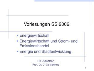 Vorlesungen SS 2006