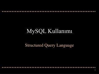MySQL Kullan?m?