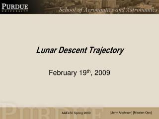 Lunar Descent Trajectory