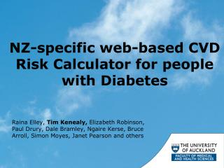 NZ-specific web-based CVD Risk Calculator for people with Diabetes