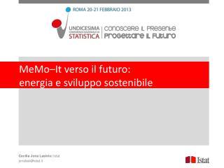 MeMo – It  verso il futuro:  energia  e sviluppo sostenibile
