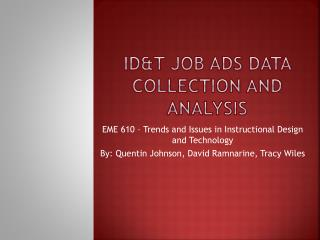 Id&T  Job Ads Data collection and analysis