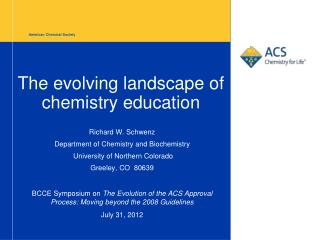 The evolving landscape of chemistry education