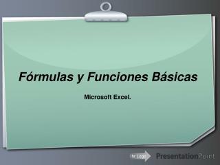 Fórmulas y Funciones Básicas