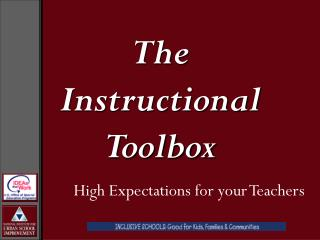 The Instructional Toolbox