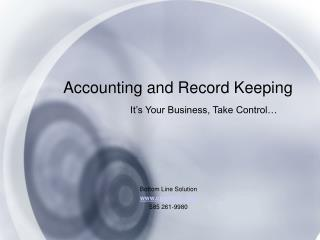 Accounting and Record Keeping