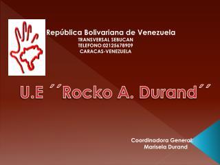 República Bolivariana de Venezuela TRANSVERSAL SEBUCAN TELEFONO:02125678909 CARACAS-VENEZUELA