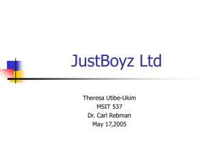 JustBoyz Ltd