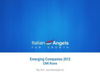 Emerging Companies  2012 CNR  Rome