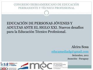 CONGRESO IBEROAMERICANO DE EDUCACIÓN PERMANENTE Y TÉCNICO PROFESIONAL
