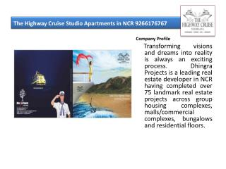 The Highway Cruise Studio Apartments in NCR 9266176767