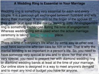 A Wedding Ring is Essential in Your Marriage