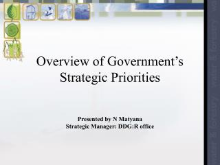 Overview of Government�s Strategic Priorities