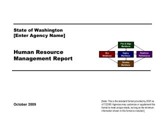 State of Washington [Enter Agency Name]   Human Resource Management Report