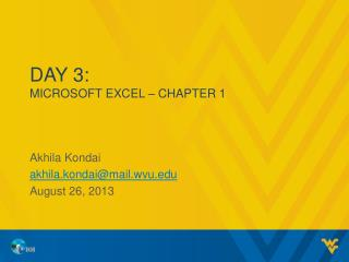 Day 3: MICROSOFT EXCEL – CHAPTER 1