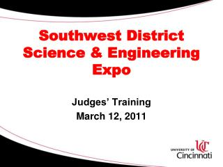 Southwest District  Science & Engineering Expo