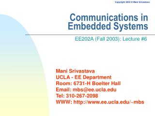 Communications in Embedded Systems