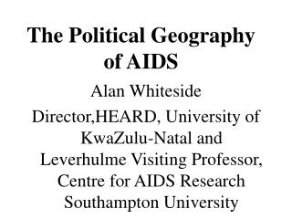 The Political Geography of AIDS