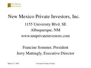 New Mexico Private Investors, Inc.