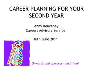 CAREER PLANNING FOR YOUR SECOND YEAR