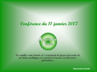 Conférence du 11 janvier 2007