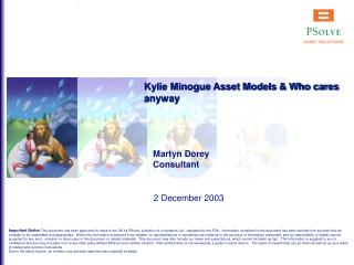 Kylie Minogue Asset Models & Who cares anyway