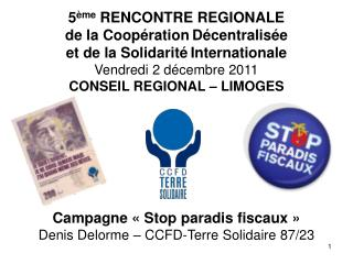 Campagne « Stop paradis fiscaux » Denis Delorme – CCFD-Terre Solidaire 87/23