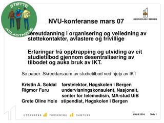 NVU-konferanse mars 07