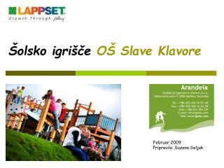 Šolsko igrišče  OŠ Slave Klavore