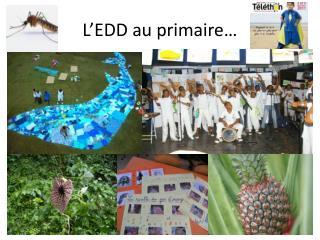 L'EDD au primaire…