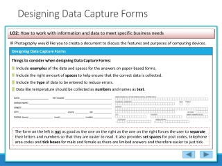 Data Capture Forms