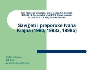 Teofilović Gorana 0514262 g orana.teofilovic @gmx.at