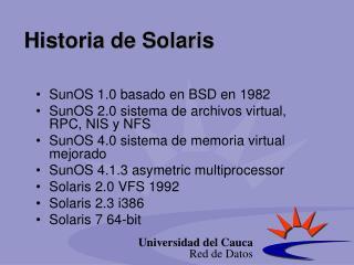 Historia  de Solaris