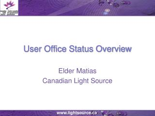 User Office Status Overview