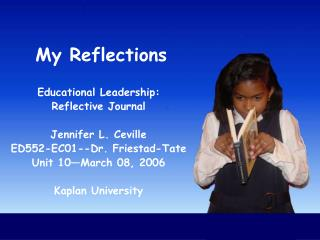 My Reflections