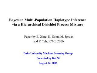Bayesian Multi-Population Haplotype Inference via a Hierarchical Dirichlet Process Mixture