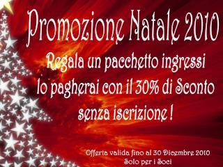 Promozione Natale 2010