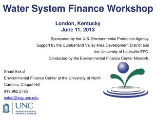 Water System Finance  Workshop London, Kentucky June 11, 2013