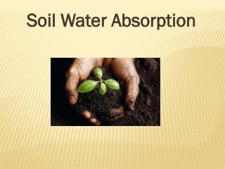 Soil Water Absorption