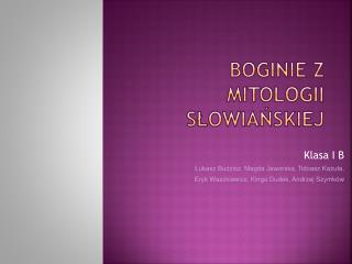 Boginie z mitologii słowiańskiej