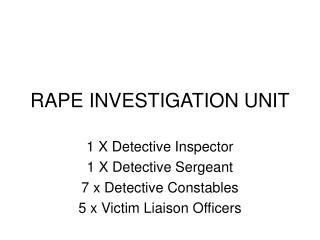 RAPE INVESTIGATION UNIT