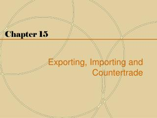 Chapter 15 Exporting, Importing and Countertrade