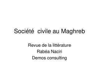 Société  civile au Maghreb
