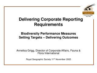 Annelisa Grigg, Director of Corporate Affairs, Fauna & Flora International