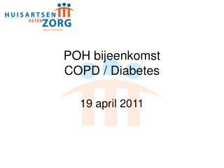 POH bijeenkomst  COPD / Diabetes